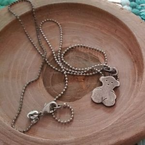 Tous sterling silver bear necklace